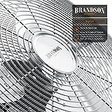 Brandson - Windmaschine Retro Stil 120 Watt   Ventilator in Chrom   Standventilator 50cm   Bodenventilator   hoher Luftdurchsatz   stufenlos neigbarer Ventilatorkopf   silber