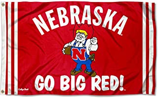 College Flags & Banners Co. Nebraska Cornhuskers Vintage Retro Throwback 3x5 Banner Flag