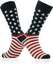 Best Patriotic American Flag Socks, SUTTOS Unisex Fashion Casual Crew Dress Socks Men Fashion socks Wedding Gifts 2-20 Pairs Review