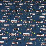 Jersey Feuerwehrautos, blau (25cm x 140cm)