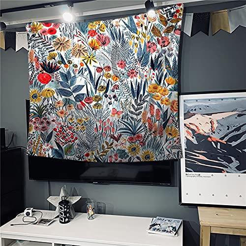 KHKJ Flores Mariposa Tapiz Colgante de Pared Estera de Playa Bohemia Manta Estera de Yoga Hogar Dormitorio Arte Alfombra Colgante de Pared Decoración A6 230x180cm