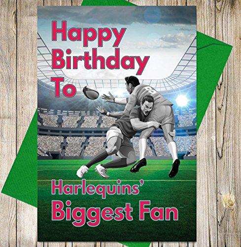 Rugby Geburtstagskarte – Harlequins Biggest Fan