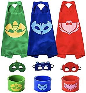 Yalla Baby Costume Superhero Cape, Mask & Wrist Band Dress Up for Kids Boys & Girls 3-12 Years