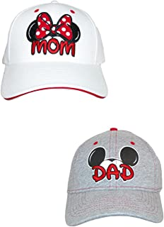 Mom and Dad Fan Baseball Caps (Pack of 2)
