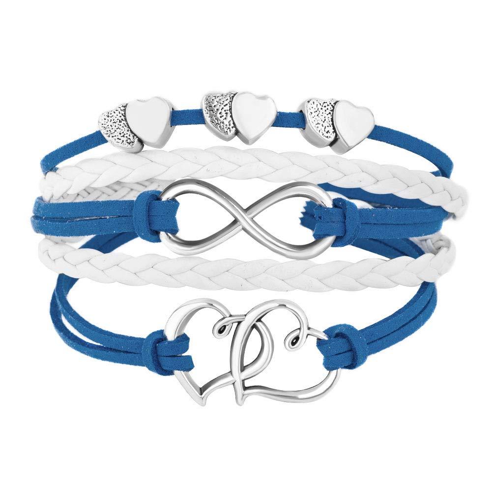 LovelyJewelry Leather Bracelets Infinity Wristband