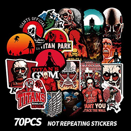 WOKAO Anime Attack On Titan Graffiti Cartoon Stickers For Luggage Laptop Skateboard Car Bicycle Backpack Decal 70 Pcs