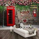 Cyalla Personnalisé Photo Papier Peint Moderne London Cabine Téléphonique Rose 3D...