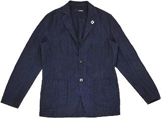 (ラルディーニ) LARDINI 2つ釦シングルジャケット メンズ リネンジャケット ネイビー EIC1196 [並行輸入品]