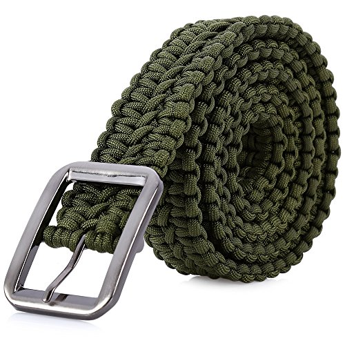 Stylrtop Tactical Waist Belt Survival Woven Belt for Camping, Hunting, Hiking, and Other Outdoor...