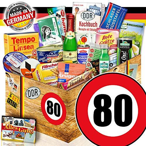 DDR Geschenkbox / Spezialitäten Geschenk / 80 Geburtstag / Geschenkset Mutter