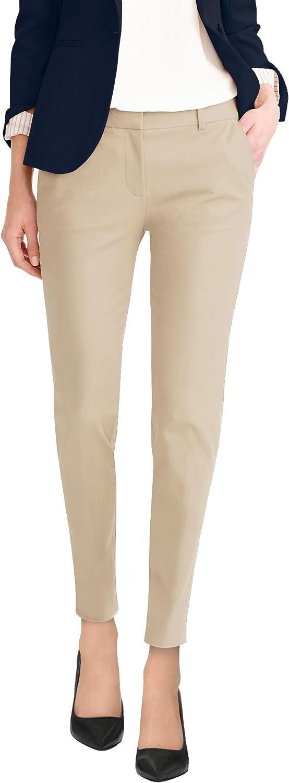 Hybrid /& Company Super Comfy Flat Front Stretch Trousers Pants