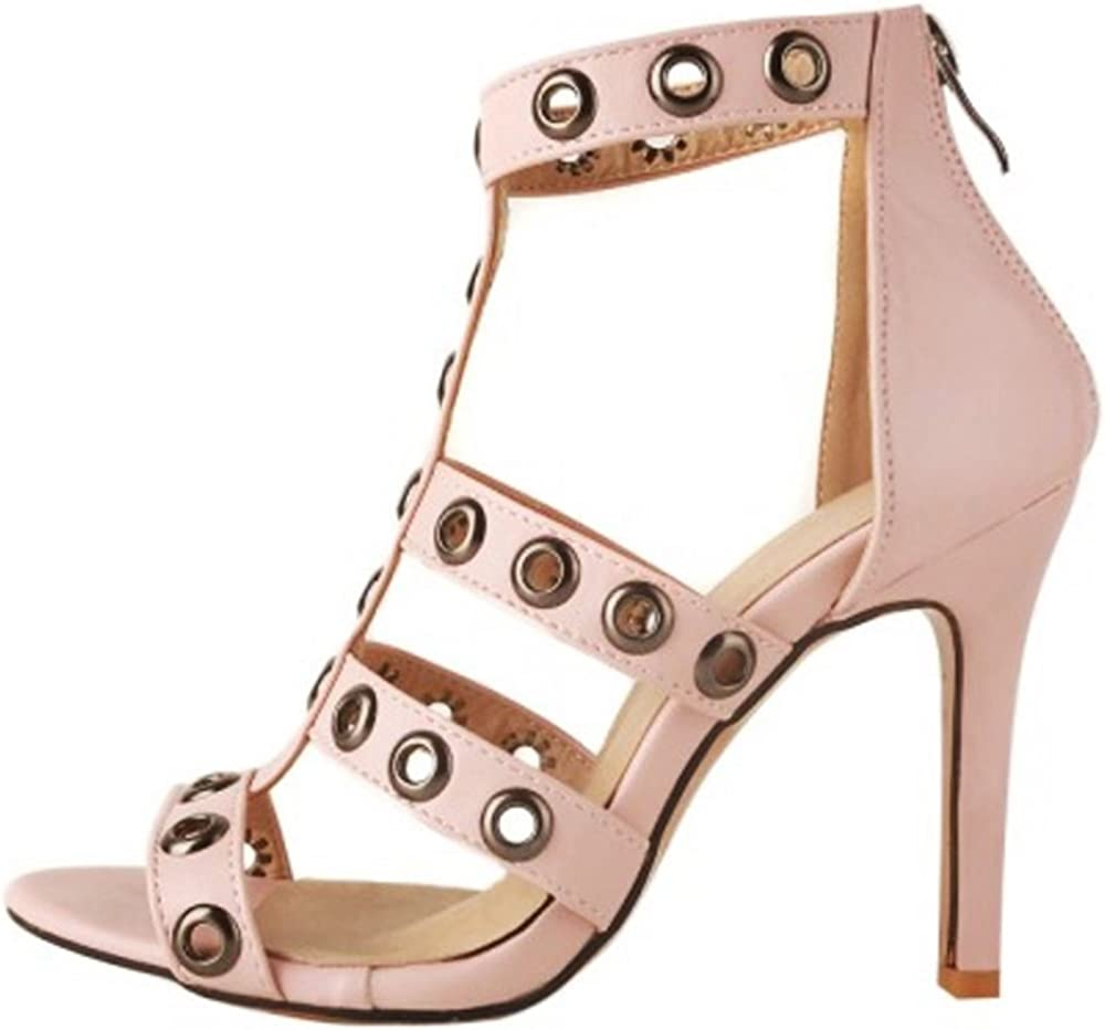 Zanpa Women Fashion Ankle Strap Sandals Stiletto