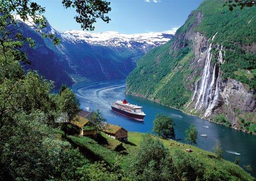 Ravensburger 80056 - Norwegischer Fjord - 1000 Teile Puzzle und CEWE Fotobuch Gutscheinbuch