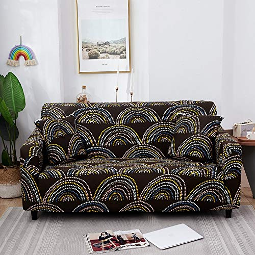 Fundas de sofá Strech Fundas de sofá elásticas para Sala de Estar Funda de sofá Antideslizante con Todo Incluido Esquina en Forma de L A25 4 plazas