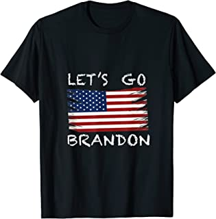 Let's Go Brandon Tee Conservative Anti Liberal US Flag...