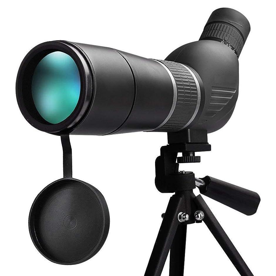 キャンベラ吸収剤前兆15-45X60 HD単眼望遠鏡、BAK4マルチコートズームレンズ付き防水単眼、野外観察野球キャンプ(電話クリップと三脚付き)