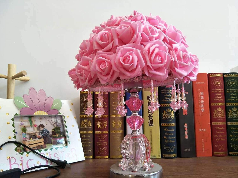 JINSH Home Hochzeitssuite Zimmer Dekoration warme Nachttisch Lampe Geschenk Geschenk Geschenk Tischlampe Rosa Tischlampe Schlafzimmer B07JLLJVWS     | Up-to-date-styling  b1c425