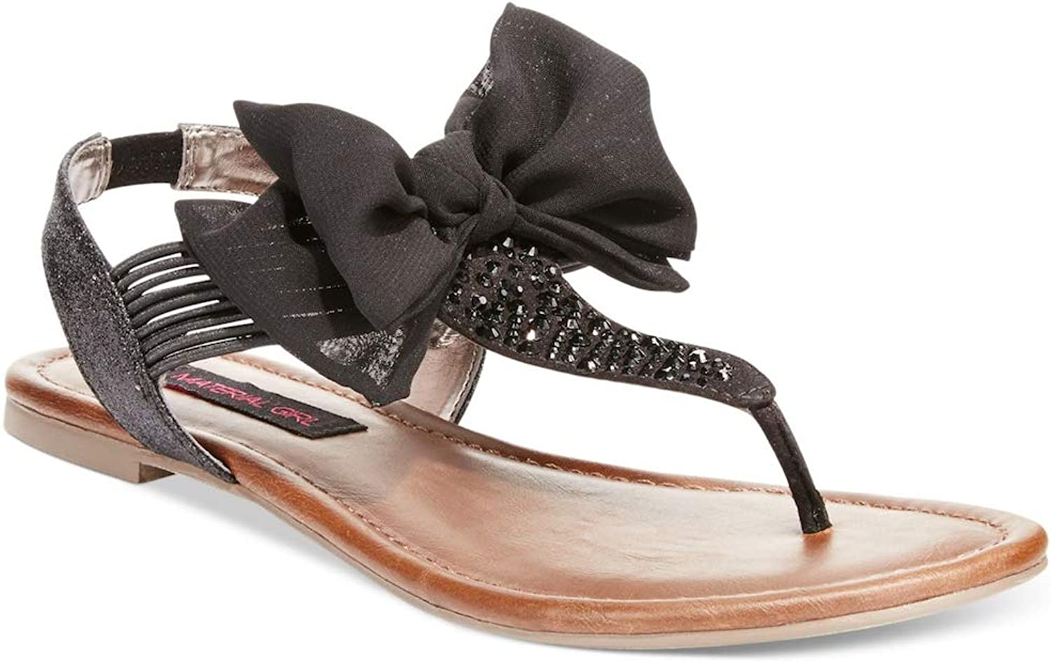 Material Girl Womens Swan2 Split Toe Casual Ankle Strap Sandals