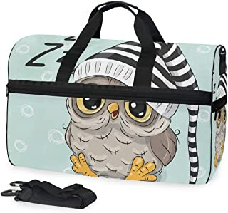 SLHFPX Gym Bag Cute Owls Duffle Bag Large Sport Yoga Overnight Bag for Men Women
