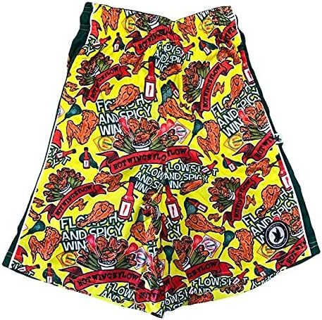 Flow Society 1 year warranty Hot Wings Athletic Shorts Mail order Yellow Boys
