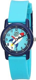 Q&Q Women's Blue Dial Resin Band Watch - VR41J008Y