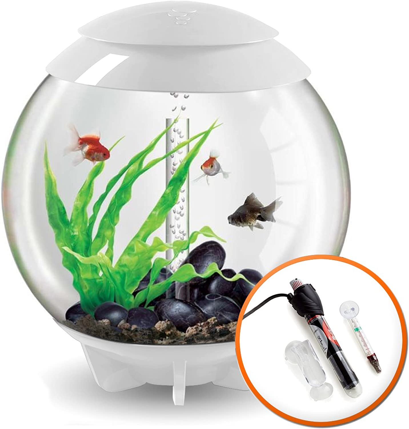 BiOrb HALO 60L White Aquarium with MCR LED Lighting and Heater Pack