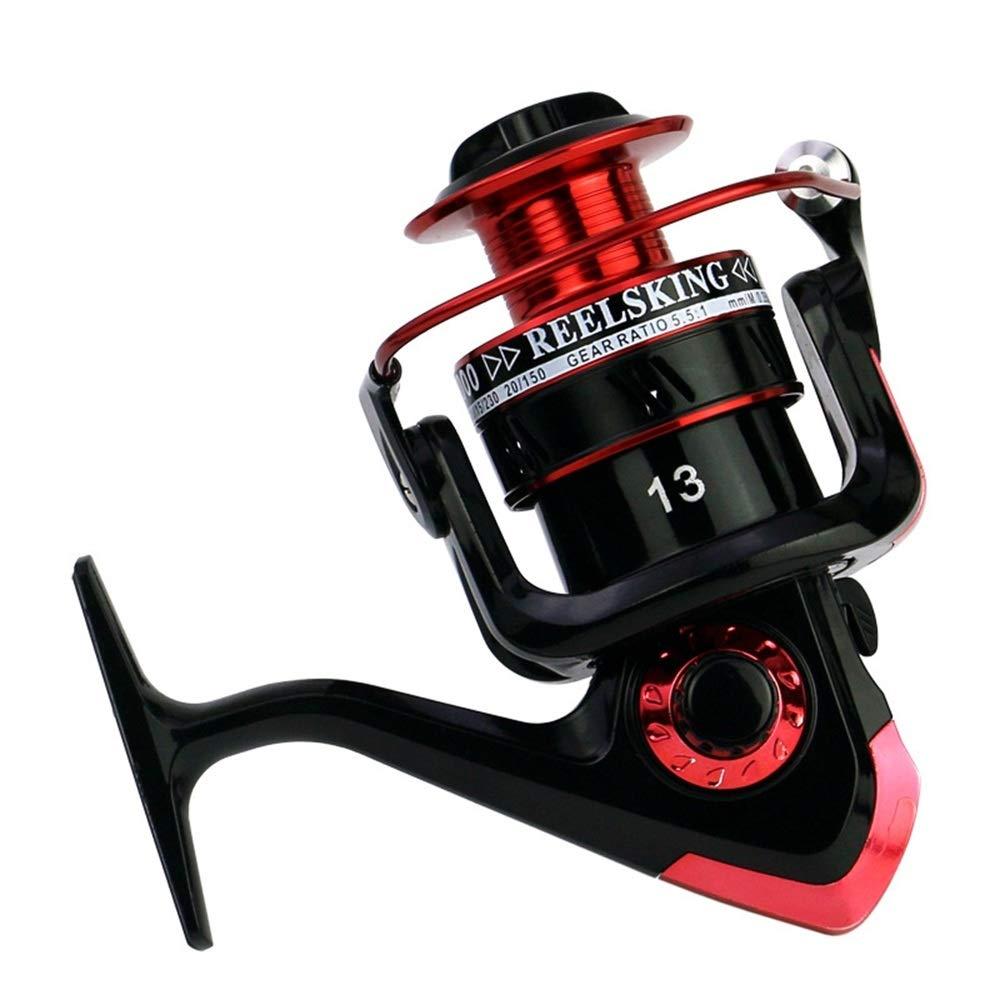 釣りリール フィッシングリールメタルヘッドフィッシングリールスピニングフィッシュホイールフィッシングリールシーポールロード (色 : 6000 model)