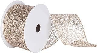 Vickerman Q130439 Glitter Mesh Ribbon, 4