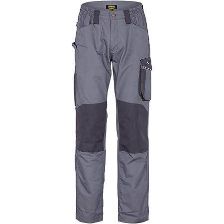 Diadora Utility Rock ISO 13688:2013 - Pantalone da Lavoro per Uomo, Grigio Acciaio, M