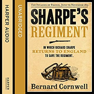 Sharpe's Regiment: The Invasion of France, June to November 1813     The Sharpe Series, Book 17              Auteur(s):                                                                                                                                 Bernard Cornwell                               Narrateur(s):                                                                                                                                 Rupert Farley                      Durée: 12 h et 17 min     7 évaluations     Au global 4,7