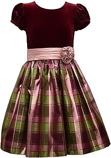 Bonnie Jean Big Girls 7-16 Velvet to Plaid Holiday Dress - Kids Holiday Dress