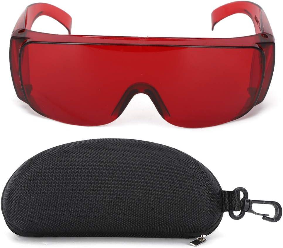 Gafas láser Gafas de seguridad Accesorio industrial Gafas protectoras para filtro de luz(rojo)