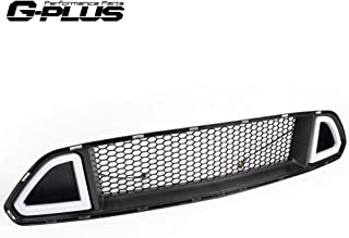 Mesh Front Bumper Upper Hood Grille Grill With DRL LED Accent Vent Lights For 2015 2016 2017 Ford Mustang