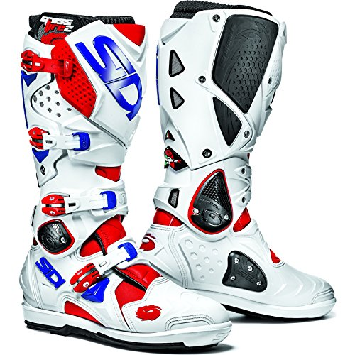MFIRE2SRS ROBIBL - Sidi Crossfire 2 SRS Motocross Boots 45 White/Red/Blue (UK...