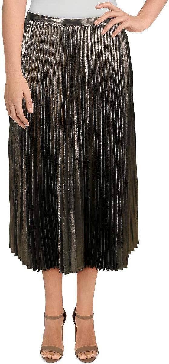LAUREN RALPH LAUREN Pleated Metallic Skirt