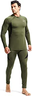 LINFKY Men's Thermal Underwear Set, Long Johns Base Layer Fleece Lined Insulated Top and Bottom Set for Cold Weather