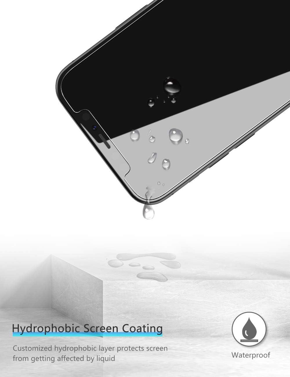 Anti Rayures 6.7 Pouces,Lot de 4 OMOTON Verre Tremp/é pour iPhone 12 Pro Max Film Protection Ecran avec Kit Installation Facile Installation sans Bulles
