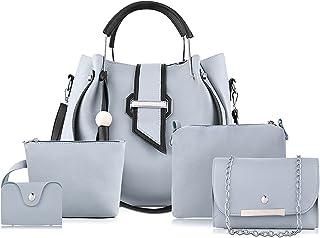Fargo Handbag For Women And Girls COMBO SET OF 5 (Grey_FGO-267)