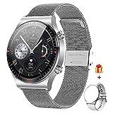 GaWear Relojes Inteligente Hombre, Smartwatch con Llamadas Pulsómetro Presión Arterial, Monito de Sueño,Podómetro Pulsera Reloj Impermeable para Android iOS y Xiaomi Huawei iPhone(Plata)