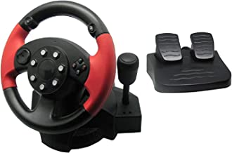 $79 » PC Racing Wheel with Pedals, SZD Universal Usb Car Sim Race Steering Wheel for Windows PC, PS3, PS4, Xbox One, Xbox 360, N...