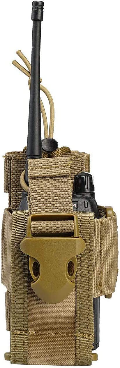 Tactical Nylon Molle Two Way Radio Pouch Holder Adjustable Walkie Talkie Holster