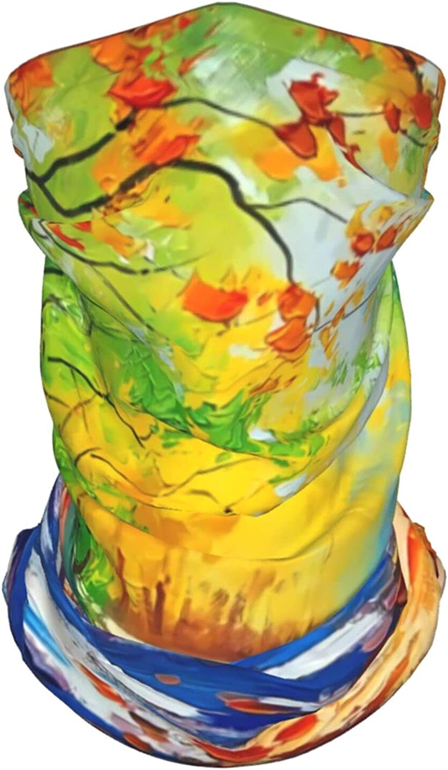 Abstract Seaside Neck Gaiter Multipurpose Headwear Ice Silk Mask Scarf Summer Cool Breathable Outdoor Sport 4 Pcs