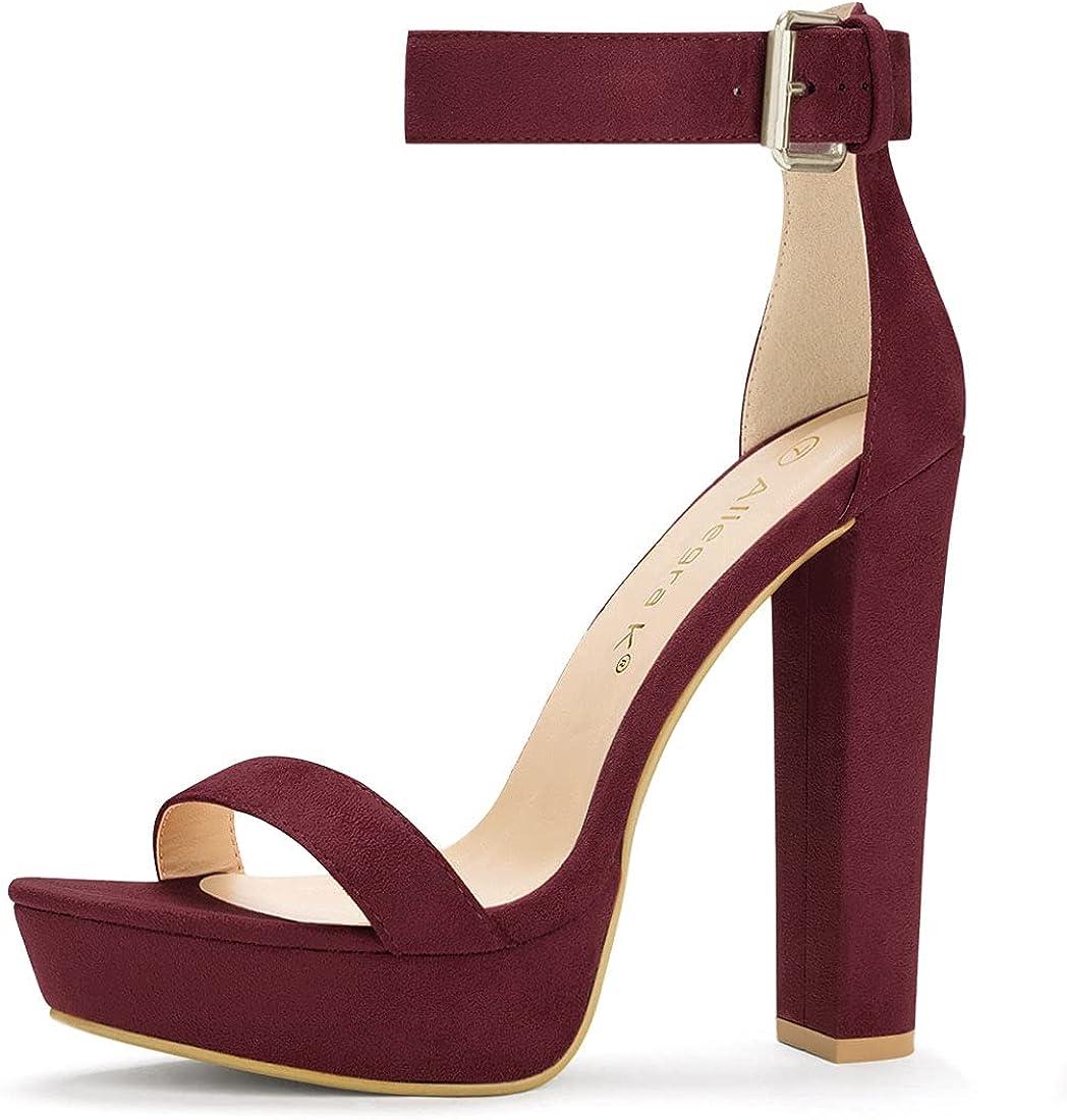 Allegra K Women's Ankle High All Manufacturer OFFicial shop stores are sold Strap Heels Platform