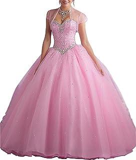XUYUDITA Sweetheart Prom Long Vestido Quinceanera con Lentejuelas de Cristal