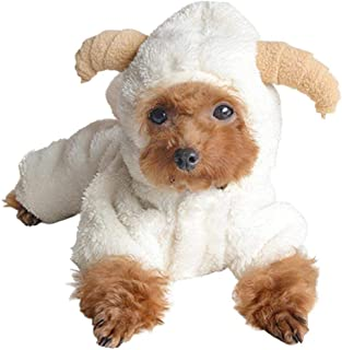 AOFITEE Dog Cute Cartoon Sheep Rabbit Shape Halloween Christmas Costume, Winter Warm Fleece Small Pet Hoodie Coat, Puppy Cold Weather Jacket Soft Comfy Jumpsuit Pajamas