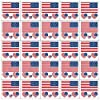 24 Sheets American Flag Temporary Tattoos July 4th Face Decal Body Art Stickers for USA Independence Day Decoration Fourth of July Patriotic Party Favors Decor Accessories