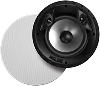 "Polk Audio 80F/X-RT In-Ceiling 2-Way Round Surround Speakers - 8"" Woofer, Dual 3/4"" Tweeters 