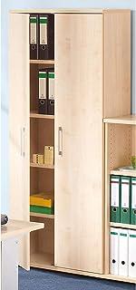 Armoire de bureau en bois PETRA - 1851 x 800 x 362 mm - Design moderne -