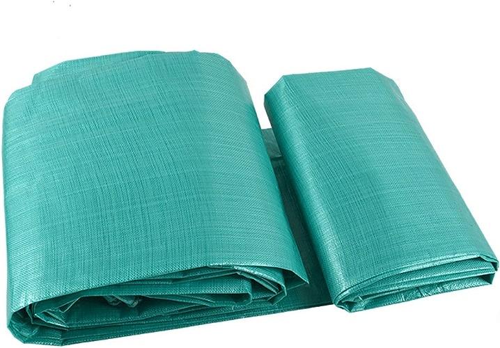 Zhangpeng Tente Extérieure Imperméable à L'eau De Pluie Bache De Prougeection Robuste En Toile Double Face Tente Imperméable Auvent Anti-épaississement Anti-corrosion Anneau Couvre-sol Bleu, 200G   M2