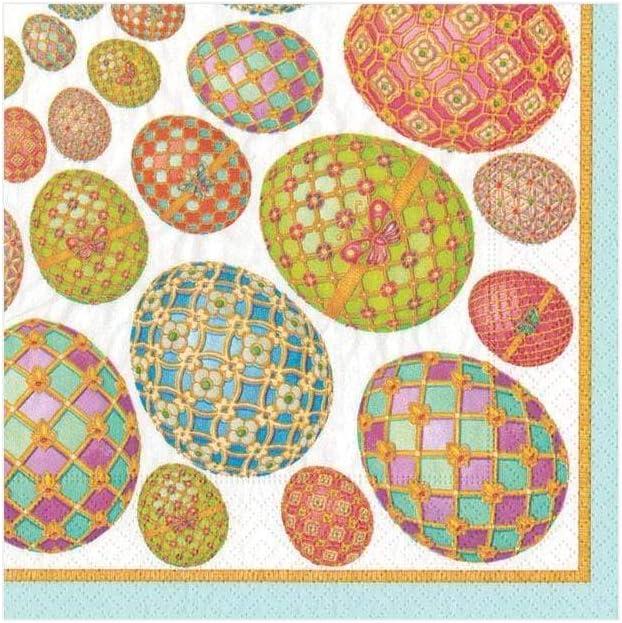 Caspari 13040C Imperial Eggs Paper Cocktail Napkins 20 Per Package